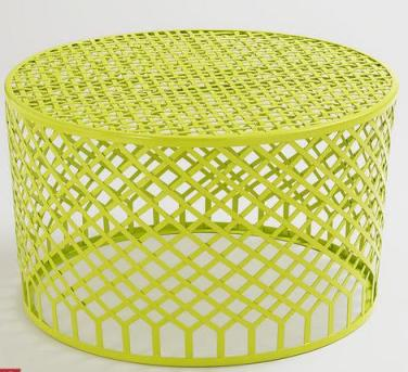 World Market Metal Round Mesh Lime Chartreuse Modern Outdoor Furniture